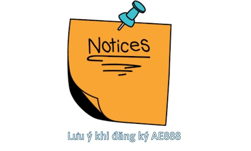 Lưu ý khi đăng ký AE888 cá cược trực tuyến
