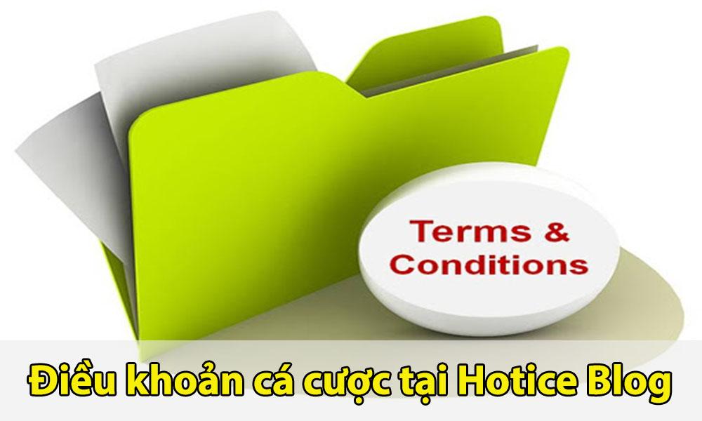 Điều khoản cá cược tại Hotice Blog