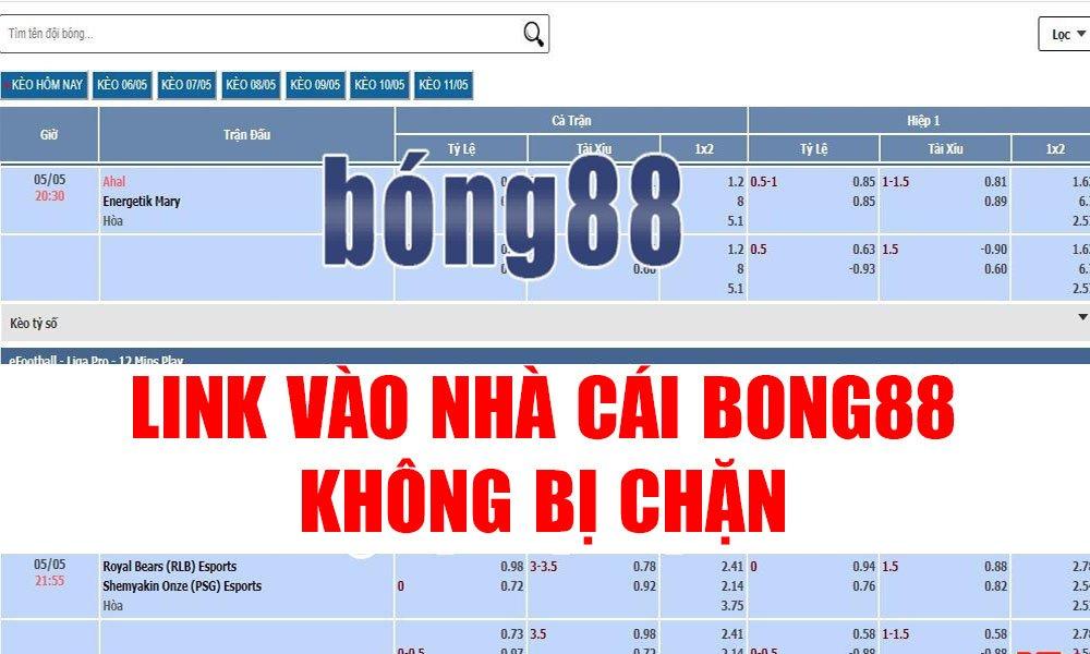 Cập nhật link vào Bong88 không bị chặn